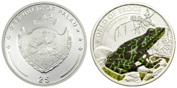 Монета с ядовитыми лягушками