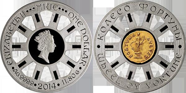Монета ниуэ колесо фортуны монеты куплю лиры
