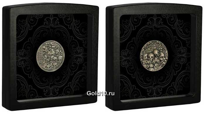 Монета «Часовня черепов» (фото - agaunews.com)