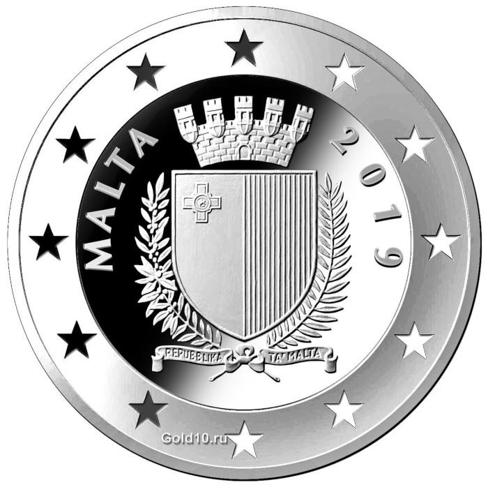 Монета «Столетие Дня мучеников» (фото - maltacoincentre.com)