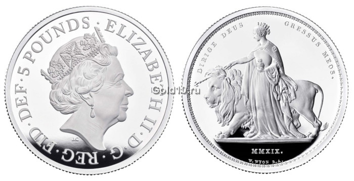 Монета серии «Великие граверы» (фото - royalmint.com)